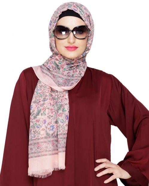 Summer Printed Peach Hijab