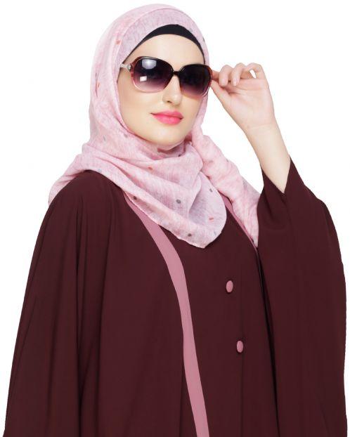 Muticolour Polka Dot Pink Hijab