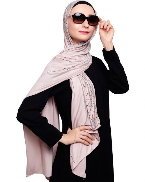Jersey Stone Work Ivory Hijab