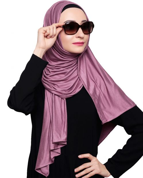 Modest Onion Pink Jersy Hijab