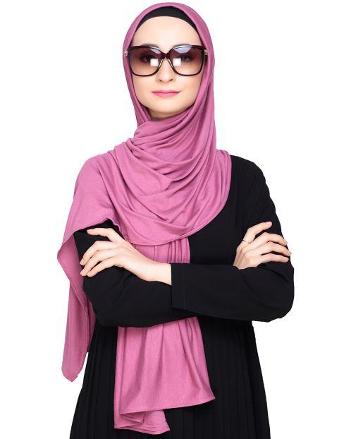 Modest Fuschia Jersey Hijab