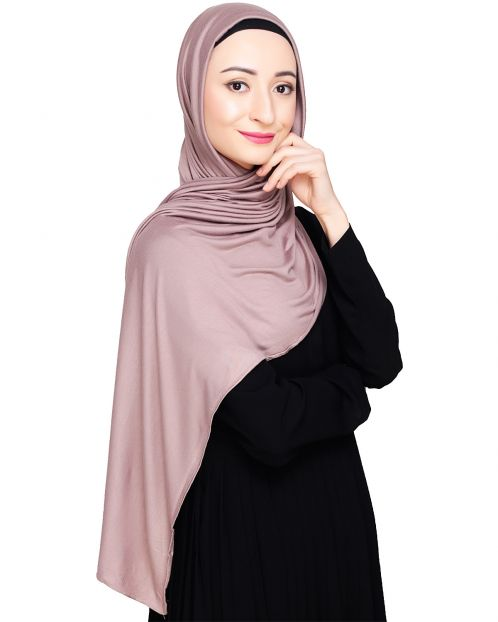 Modest Cedar Wood Jersey Hijab