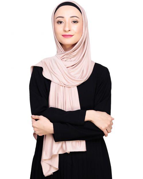 Modest Ivory Jersy Hijab