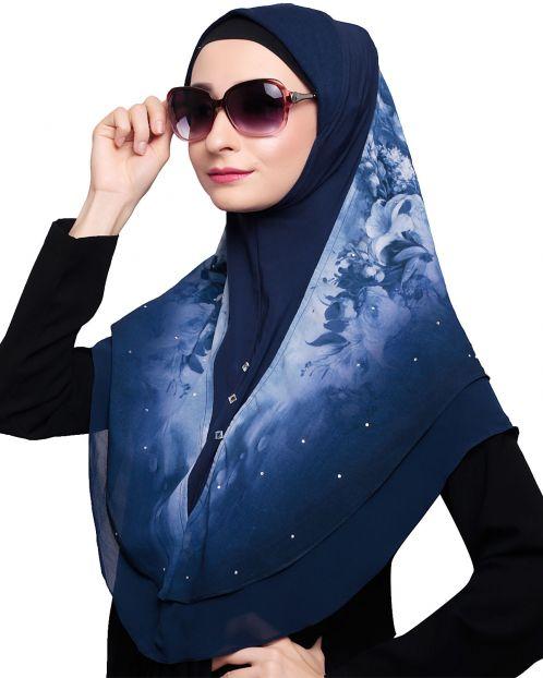 Ravishing Blue Instant Hijab