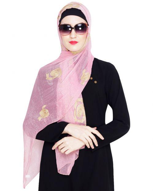 Blossom Light Pink Embroidered Hijab