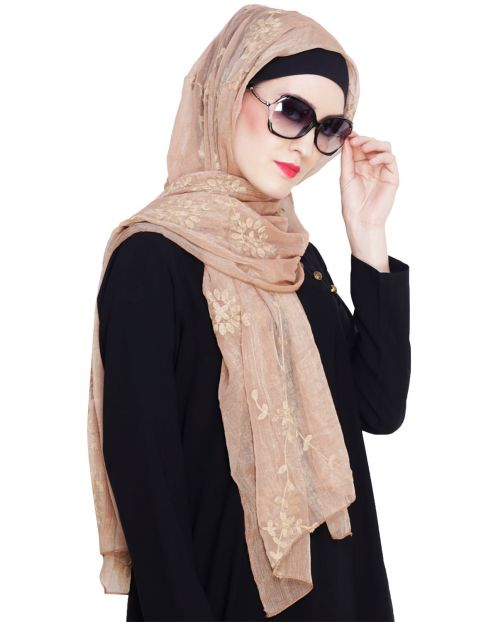 Blossom Golden Embroidered Hijab