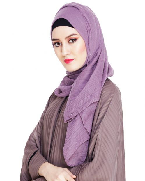 Comfy Lavender Cotton Hijab