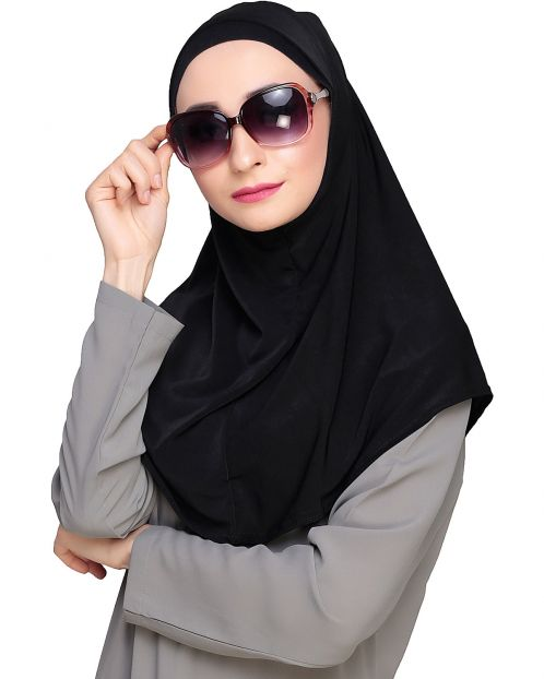 Elegant Black Mariam Hijab