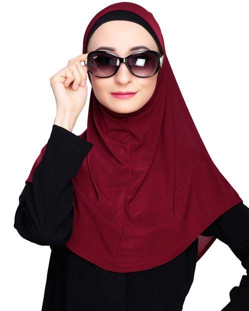 Elegant Maroon Mariam Hijab