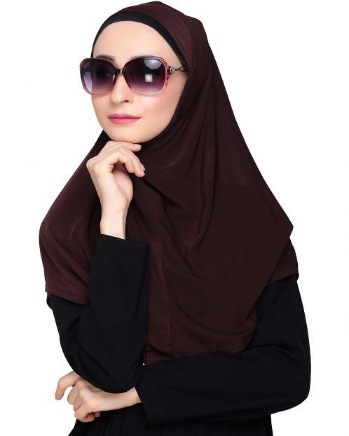 Elegant Dark Brown Mariam Hijab