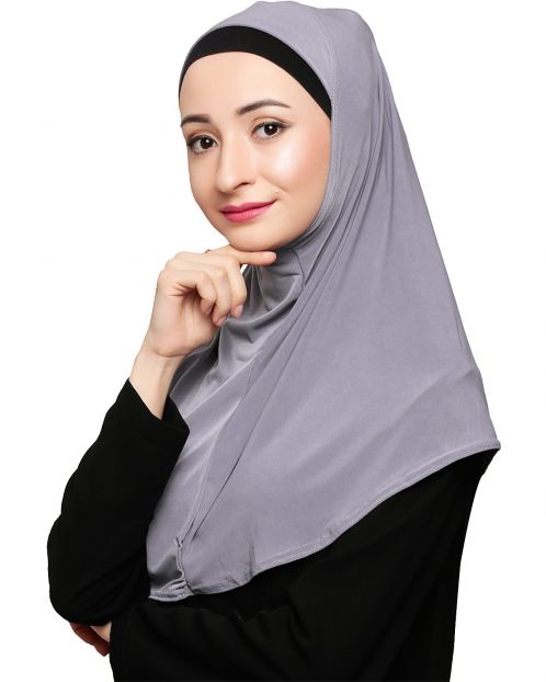 Elegant Grey Mariam Hijab