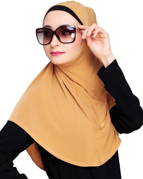 Elegant Dark Beige Mariam Hijab