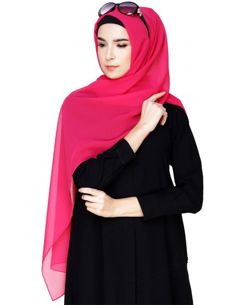 Plain Hot Pink Hijab