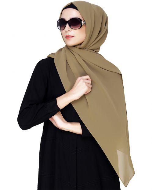 Plain Olive Hijab