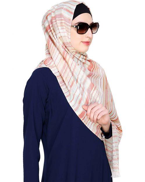 Striped Glitter Hijab