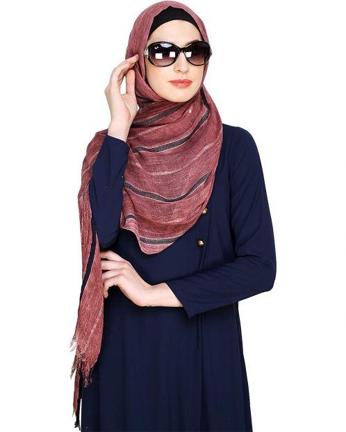 Dead Rose Striped Hijab