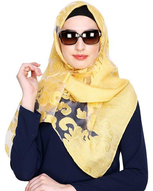 Yellow Brasso Hijab