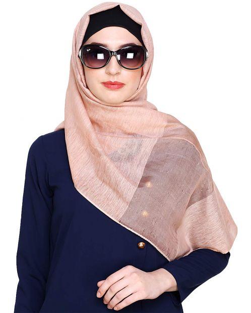 Peach Organza Hijab
