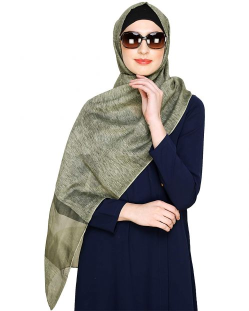 Green Organza Hijab