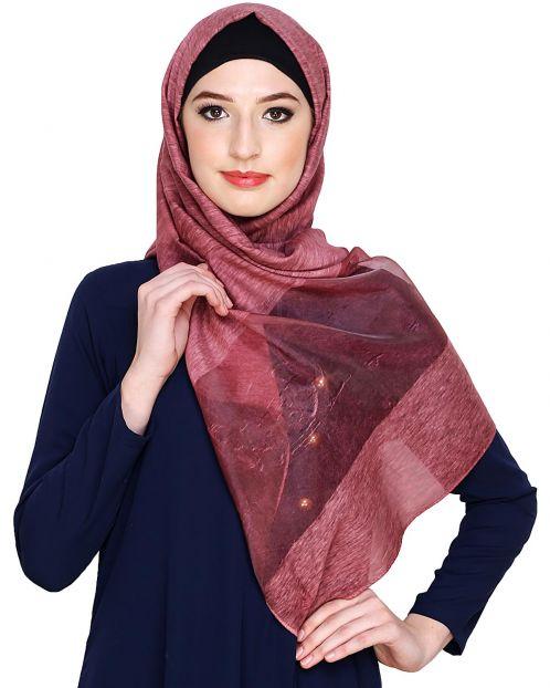 Dead Rose Organza Hijab