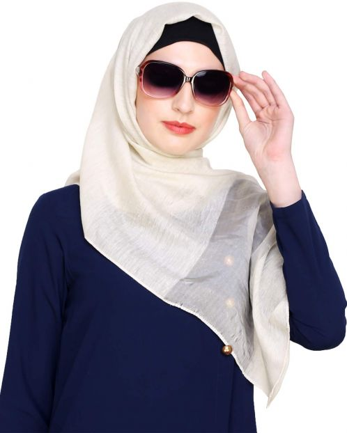 Cream Organza Hijab