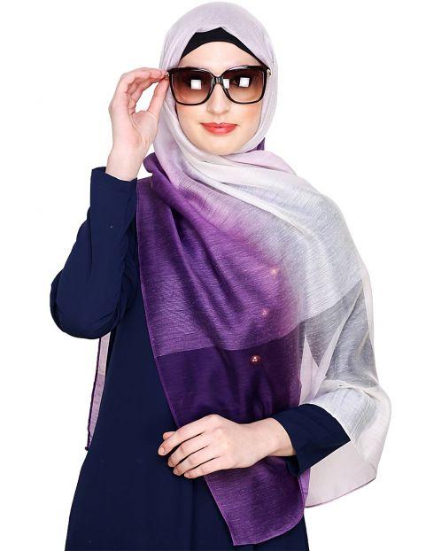 Purple Ombre Organza Hijab