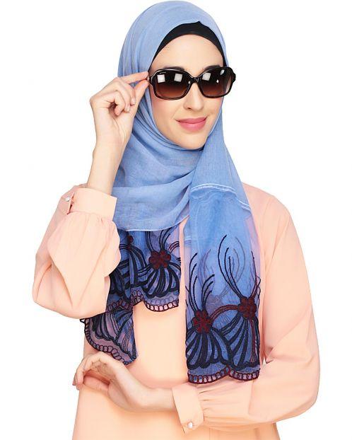 Net Delight Blue Hijab