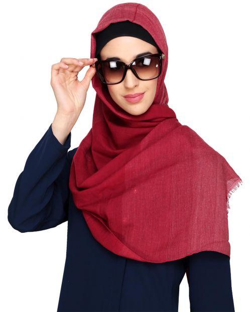 Penny Plain Maroon Hijab