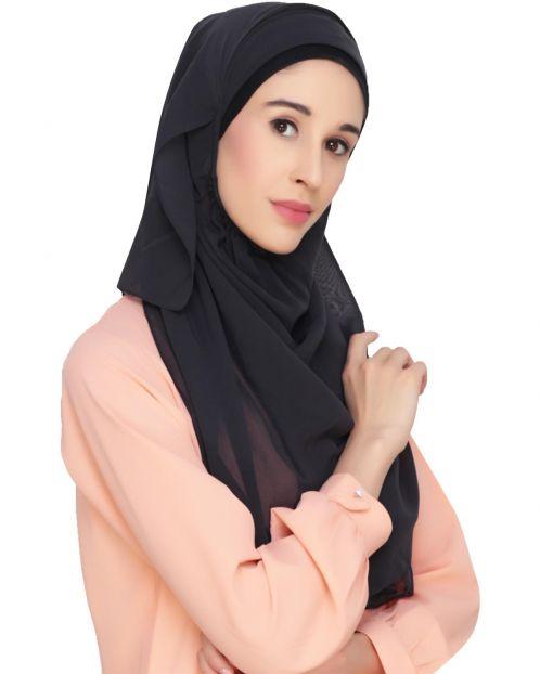 Everyday Plain Dark Grey Instant Hijab