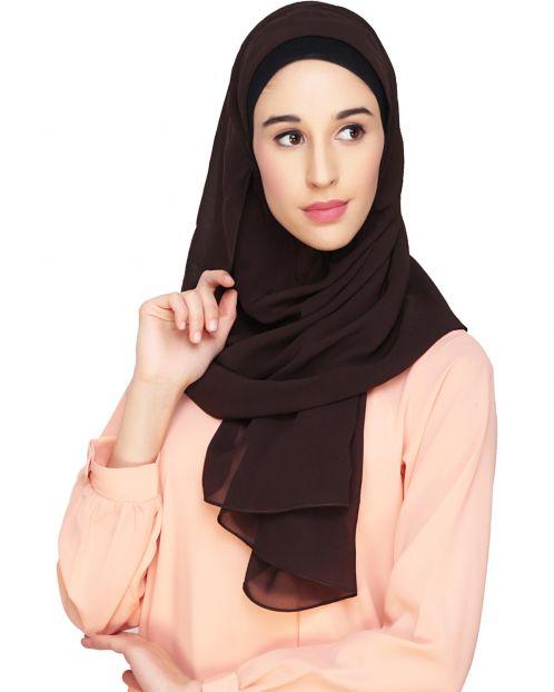 Everyday Plain Dark Wine Instant Hijab