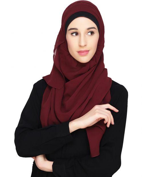 Everyday Plain Wine Instant Hijab