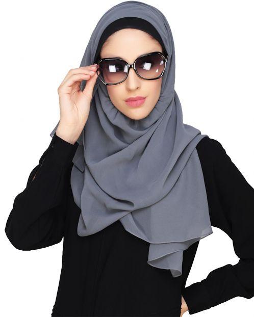 Everyday Plain Grey Instant Hijab