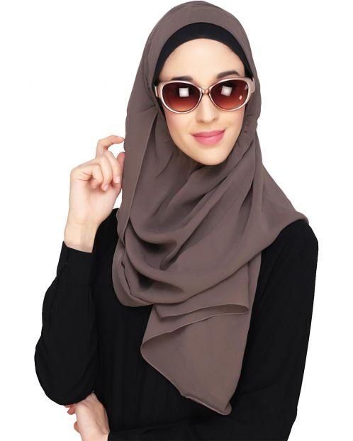 Everyday Plain Mud Grey Instant Hijab