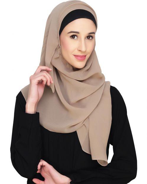 Everyday Plain Beige Instant Hijab