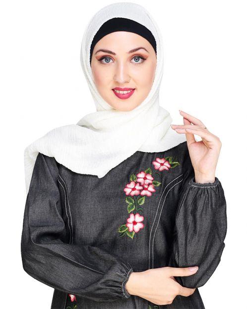 Crinkled Cotton Cream Hijab