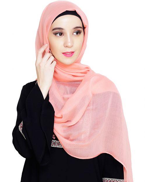 Comfy Peach Cotton Hijab