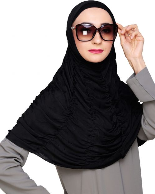 Elegant two piece black Hijab