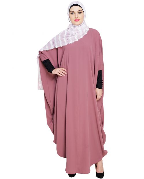 Quirky Jersy Sleeve Onion Pink Kaftan