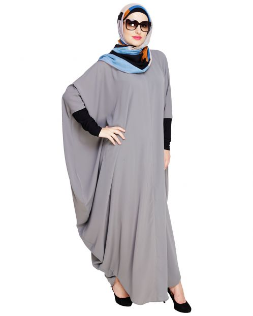 Quirky Jersy Sleeve Grey Kaftan