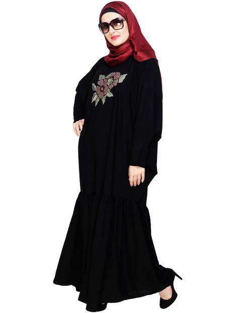Blossom Black Kaftan