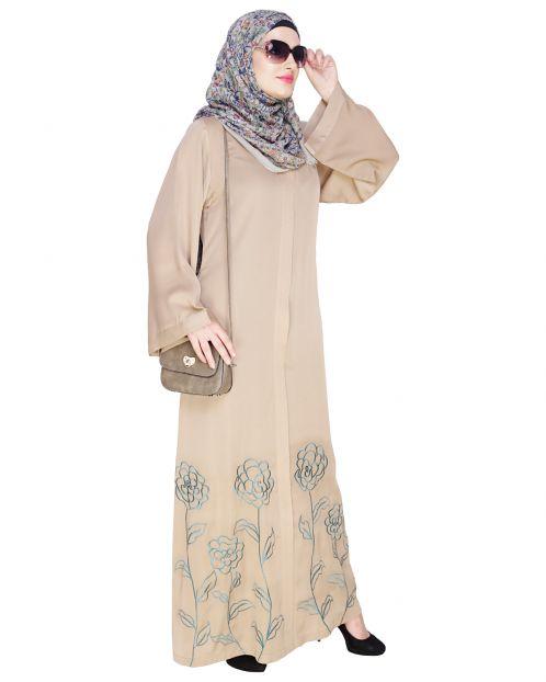 Mesmerising Beige Dubai Style Abaya