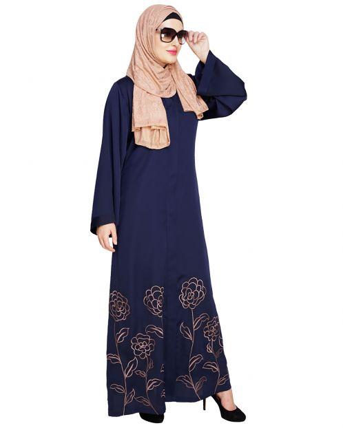 Mesmerising Blue Dubai Style Abaya