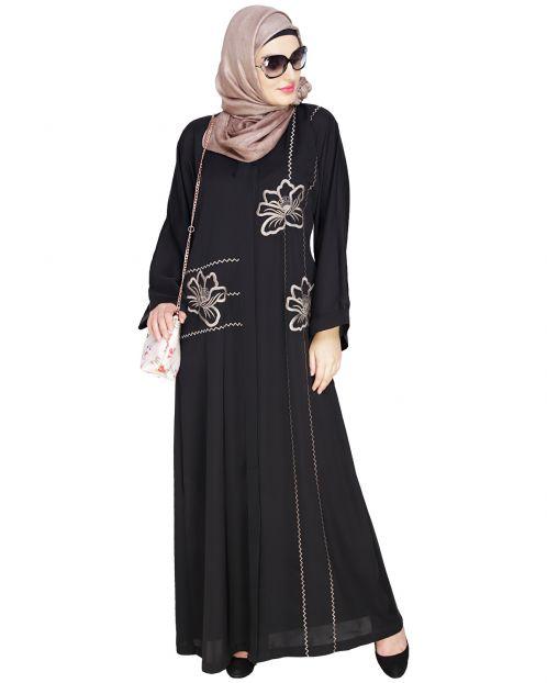Stellar Black Dubai Style Abaya