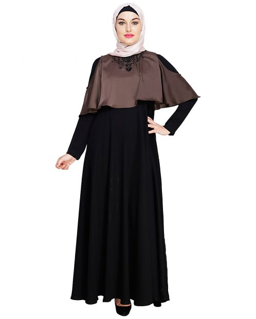 Elite Brown Cape Abaya