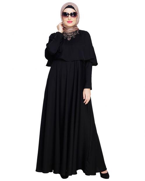 Elite Black Cape Abaya