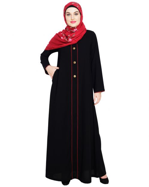sleek Black Abaya