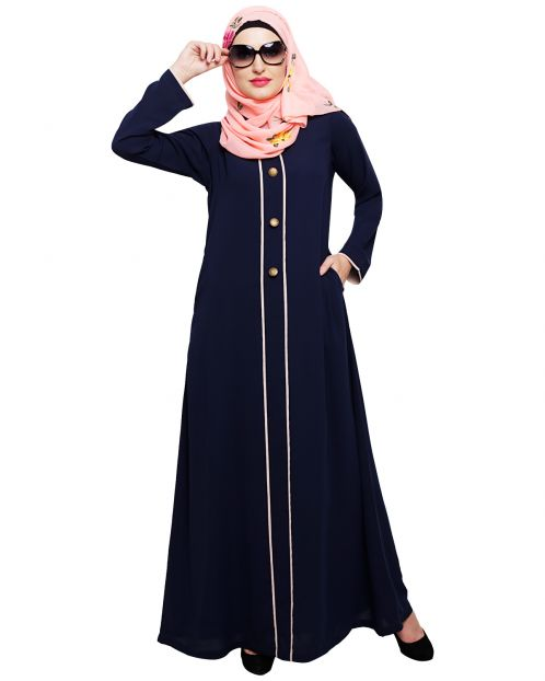 sleek Blue Abaya