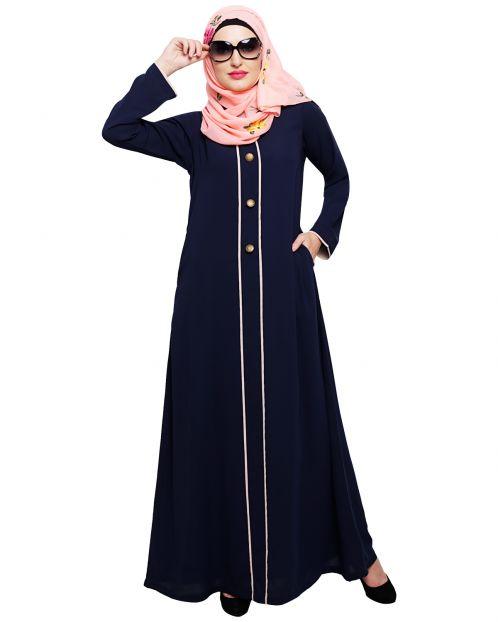 sleek Blue Abaya