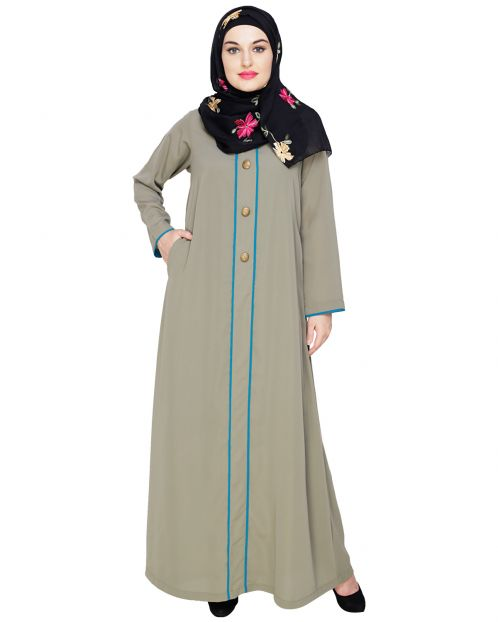 sleek Dead Mint Abaya