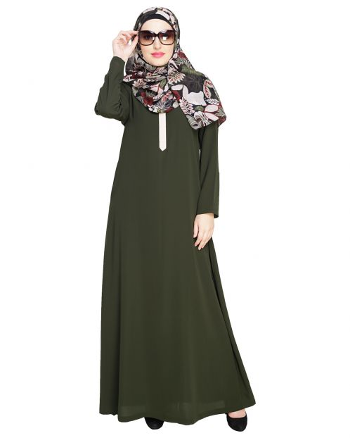 Sober Olive Abaya